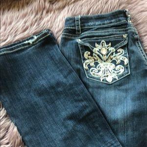 LA Idol embellished boot cut jeans